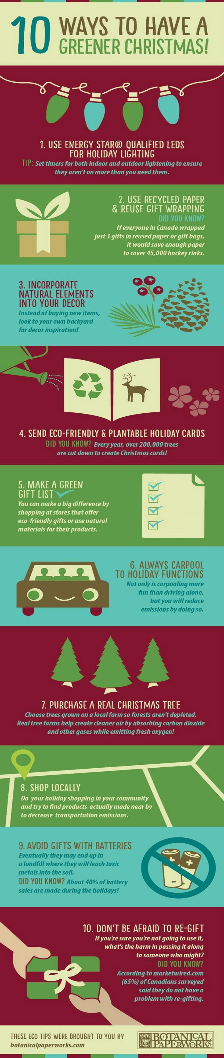 It's possible to have a green christmas. Follow the infopgraphic. Image Source: Buzzfeed