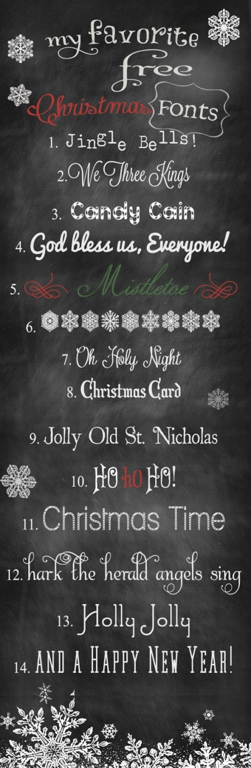 Choose the perfect font for all Christmas crafts! Image Source: Buzzfeed