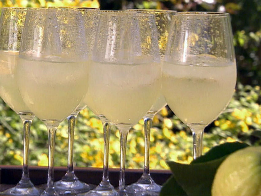 This recipe with the popular Italian liqueur is refreshing and delicious. Image Source: Food Network