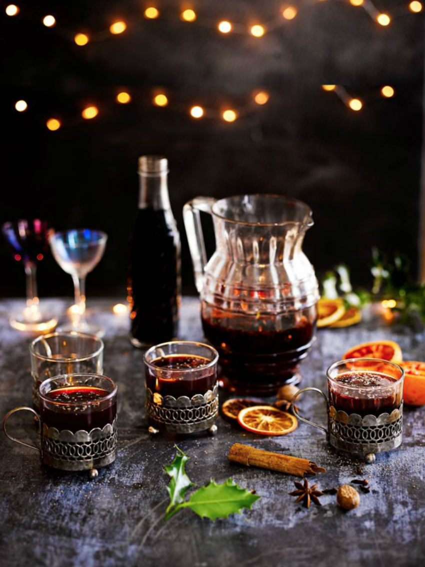 This mulled wine recipe is perfect for the Christmas night. Image Source: Jamie Oliver