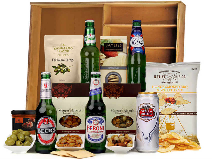 This is a sure shot for those who have beer loving friends. Image Source: The Hamper Emporium