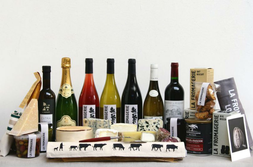 Feed your precious ones with a cheese gift basket plus nicely-paired wine. Image Source: GQ