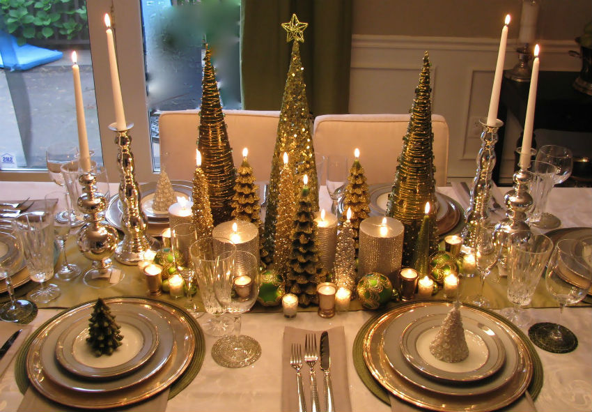 Do not hesitate to use things saved from previous Christmases. Image Source: Luxury Restaurant Guide
