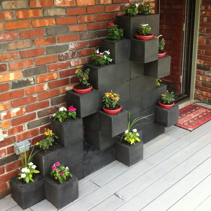 black-cinder-block-planter-wall