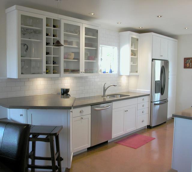 Concrete countertops can be installed in any shape or size to fit in any kitchen.