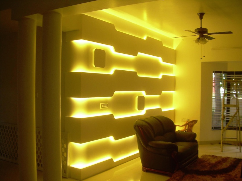 Fantastic LED display in a living room