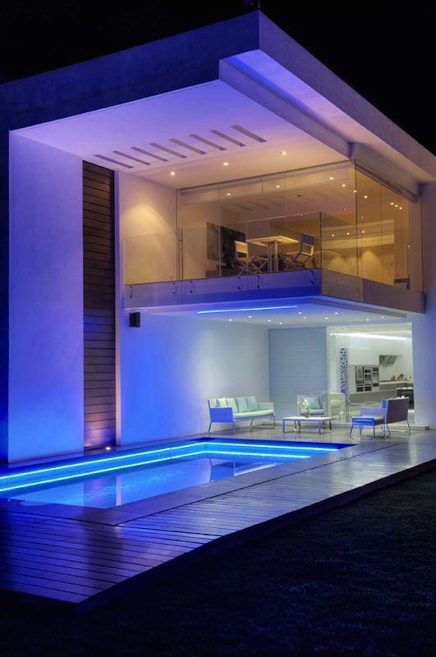 Light up the pool at night with cool LEDs