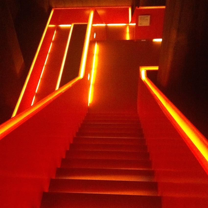 Far out red light staircase