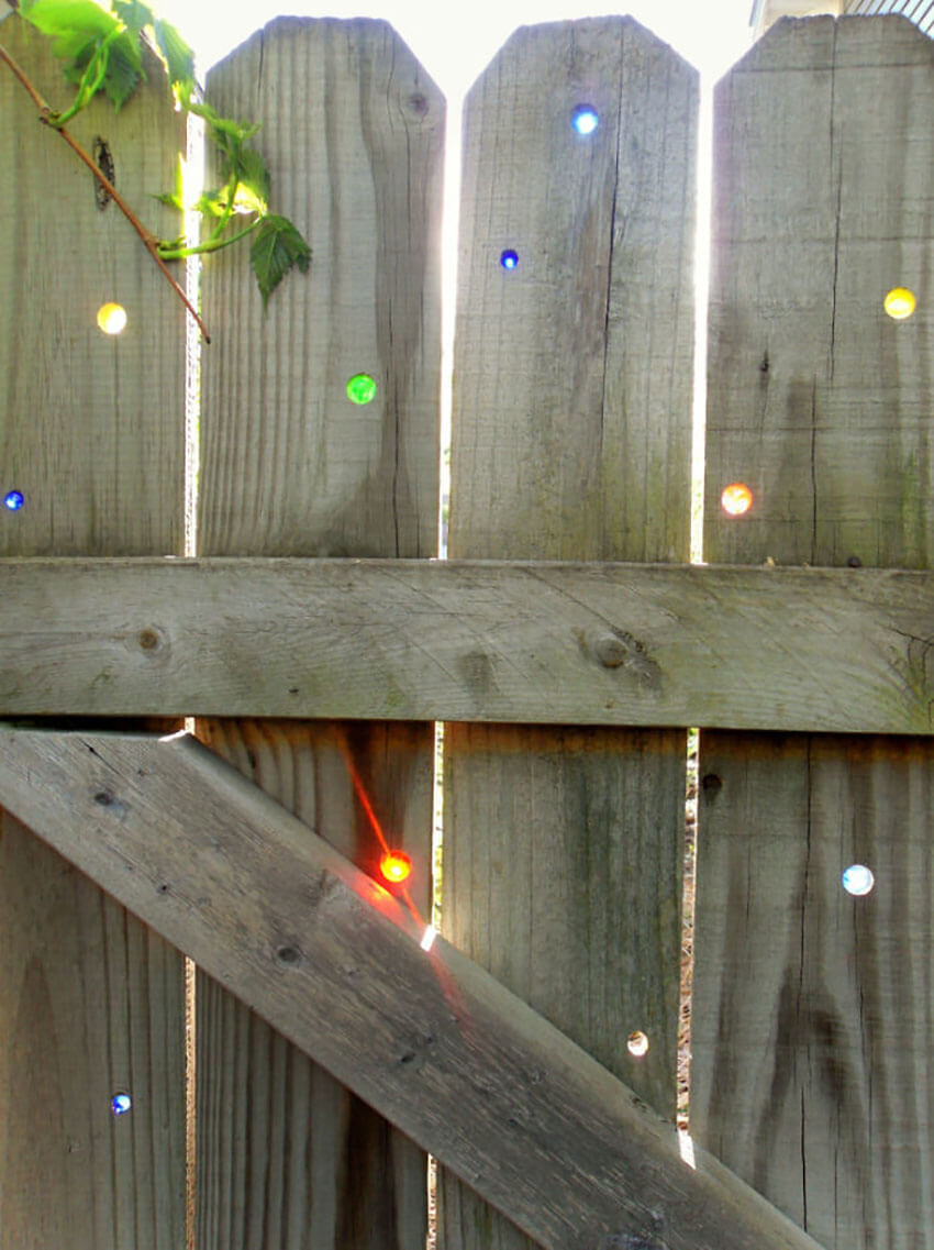 This affordable idea is perfect for any wooden fence