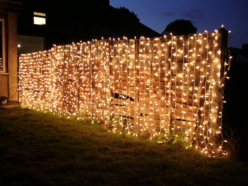 Add some lights and it will instantly make your backyard cozier.