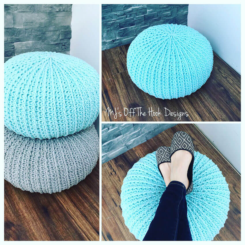 A cozy pouf brings an incredibly warm and inviting feeling to any room.