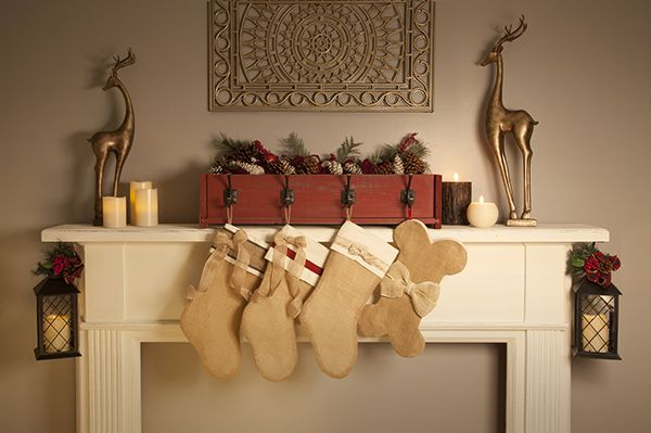 Craft your own DIY stockings! Hang them right by the fireplace mantle