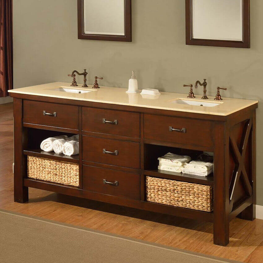 Interior bathroom vanity that can really make a statement
