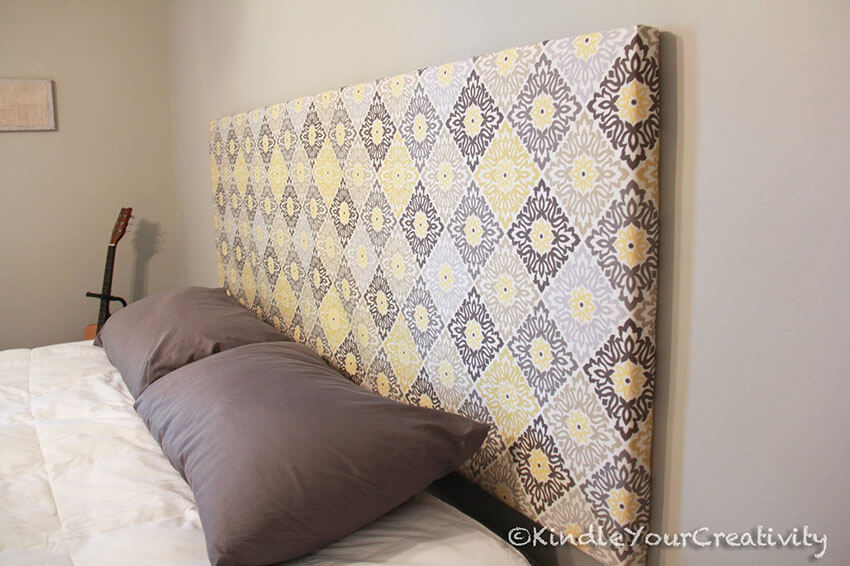 Choose the color and pattern for the fabric in this easy DIY.