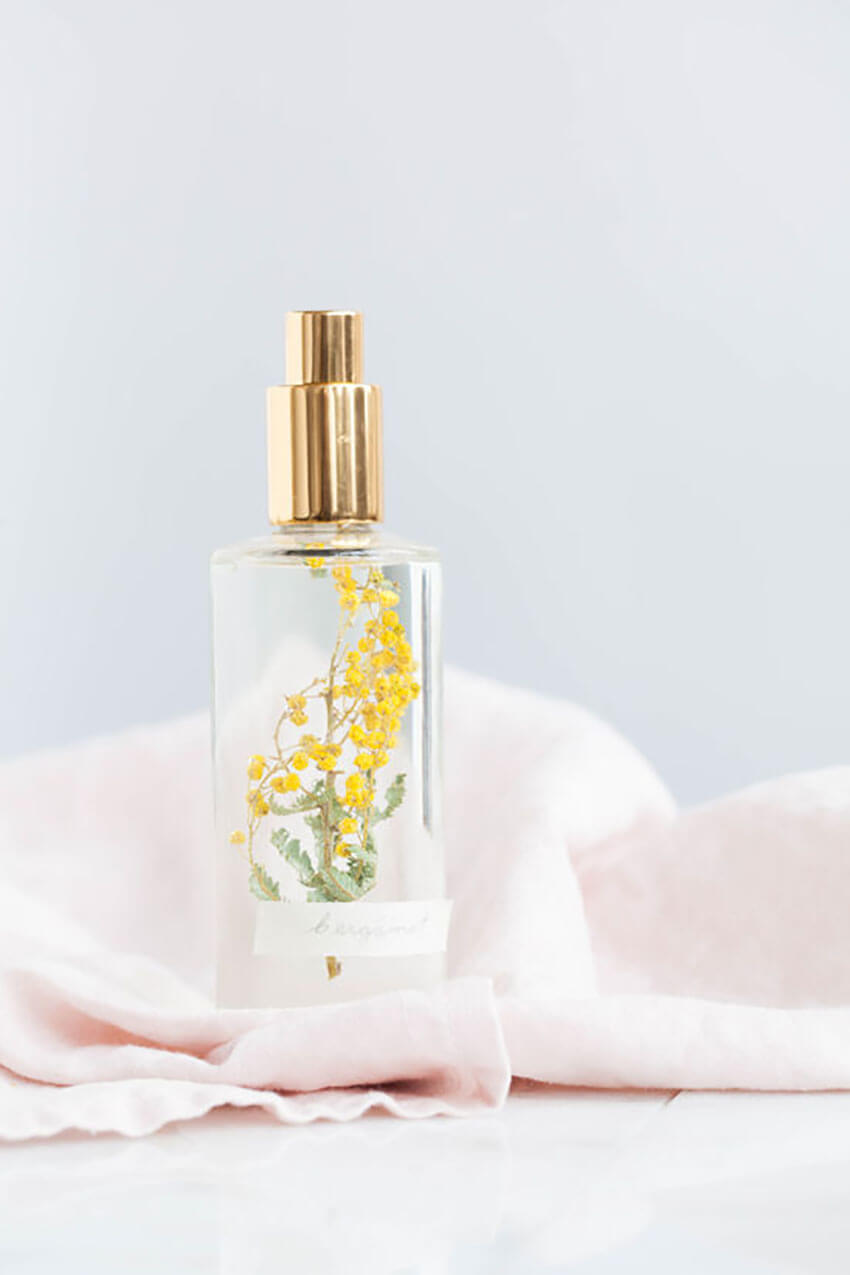 Room spray is often a store-bought option, but you can also make your own.