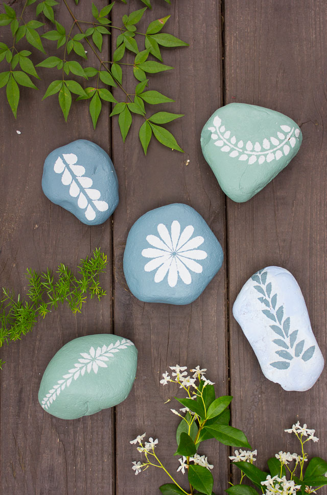 painted rock whimsical garden ornaments