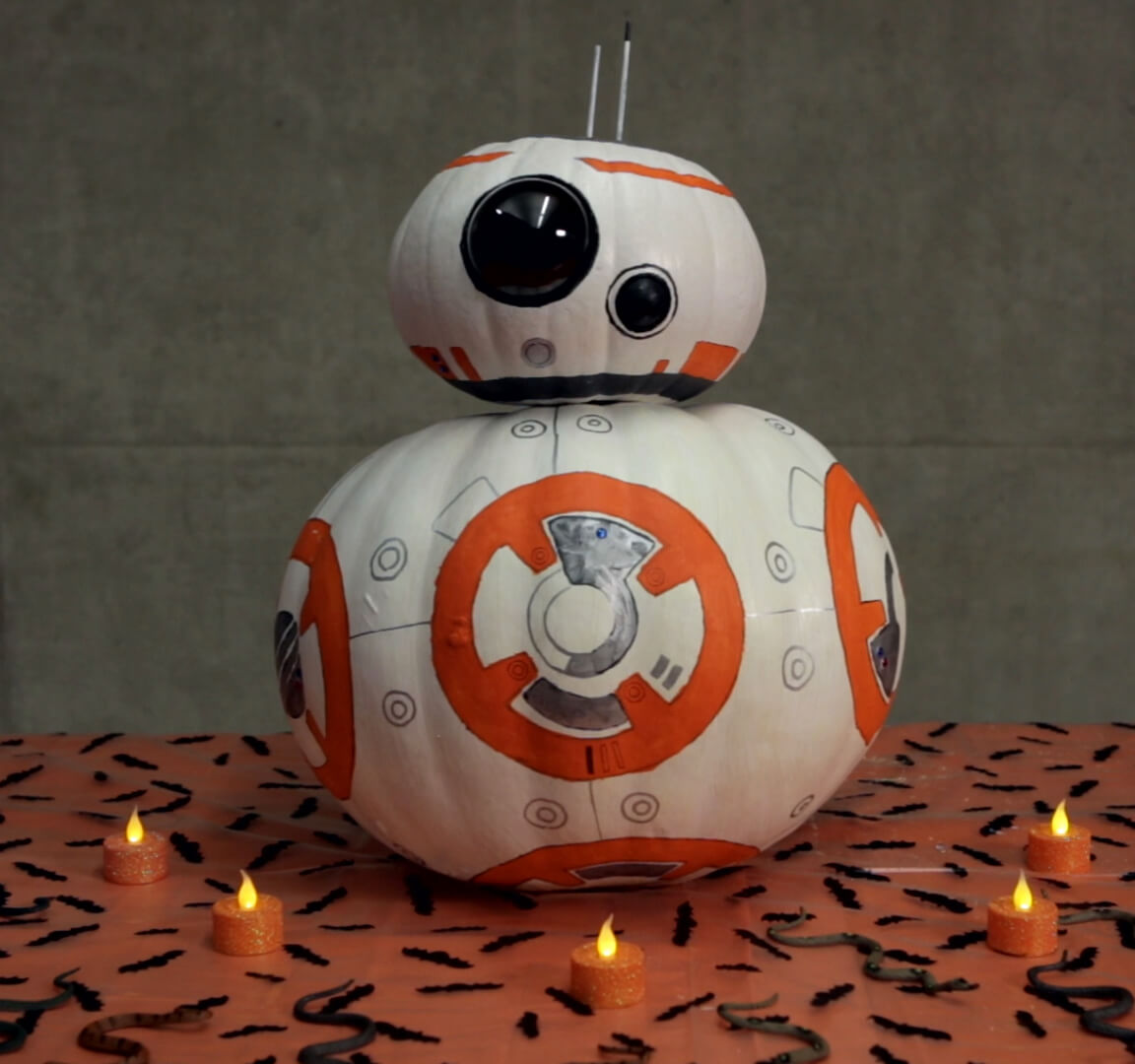 Some designs are more intricate than others, like this BB8 model!