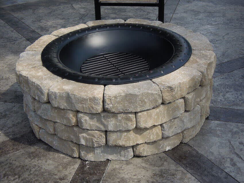 Install the fire pit in your own backyard