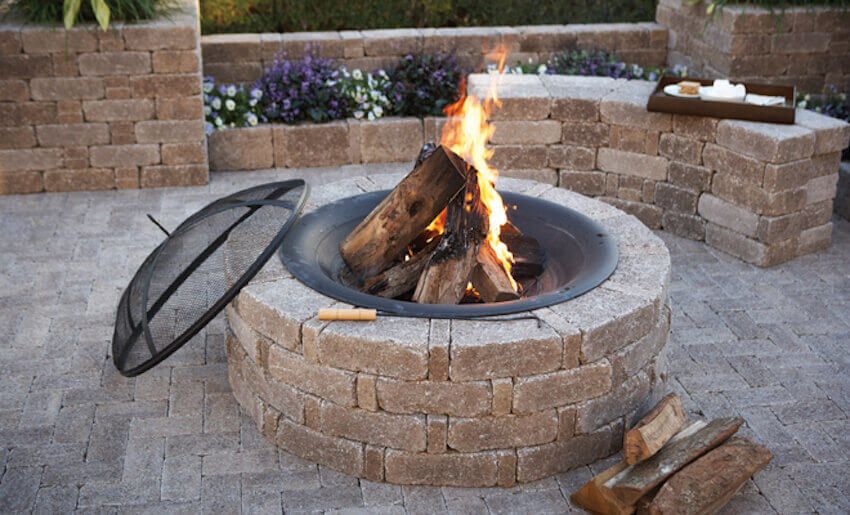 Fully finished fire pit in your backyard