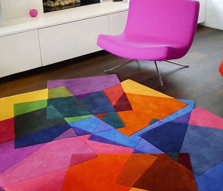 Multi layered colors fashioned together in a common room
