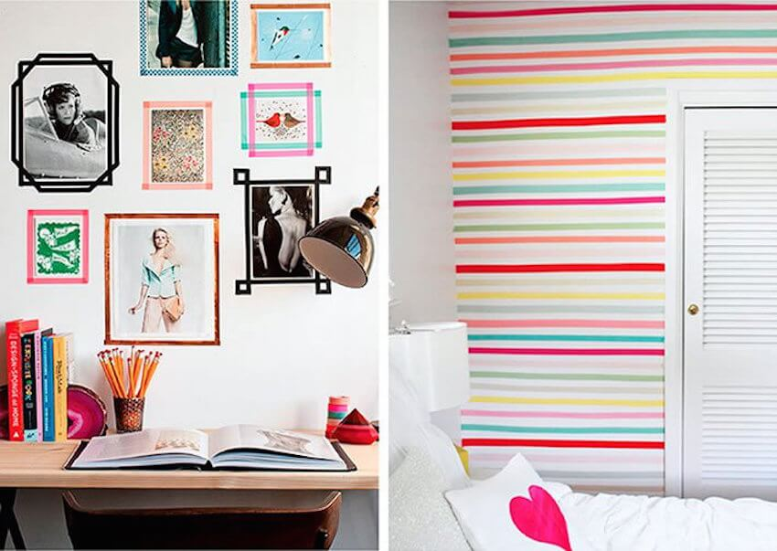 Washi tape provides all sorts of new and exciting decor designs