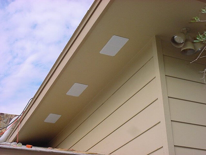 Soffit vents installed for your home attic