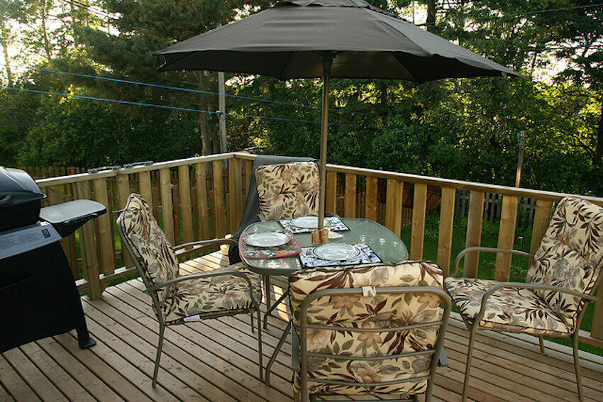 Wooden deck care for the outdoors