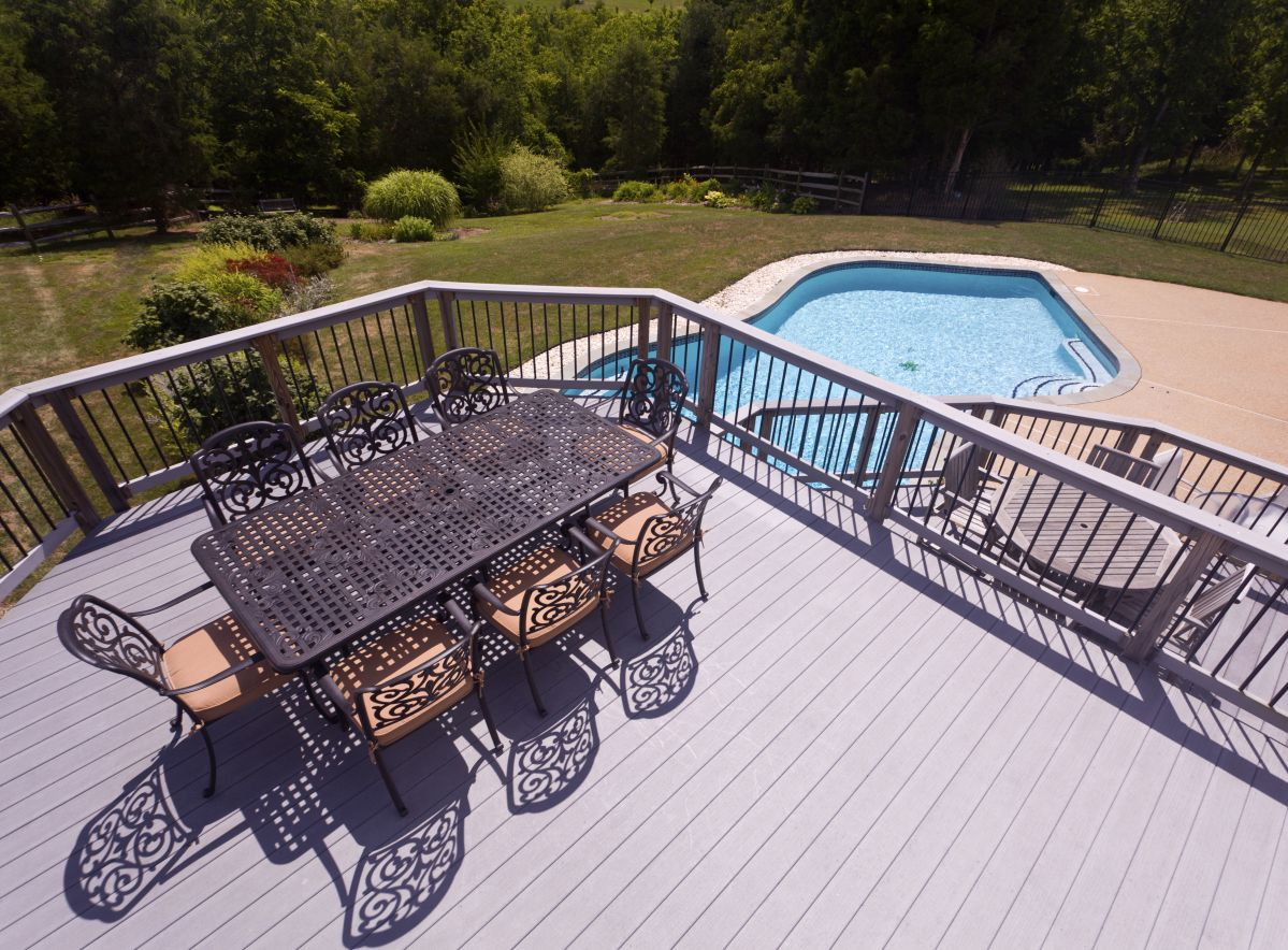 Composite decks can increase the value of your home.