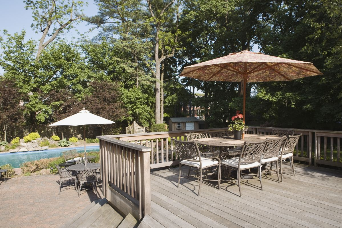 Potential buyers love the look of natural wood decks!