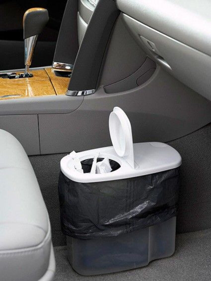 Keep a trash bag in your car to make the cleaning job easier.