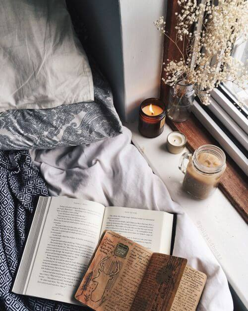 Read a book, write down your feelings or simply enjoy a scented candle!