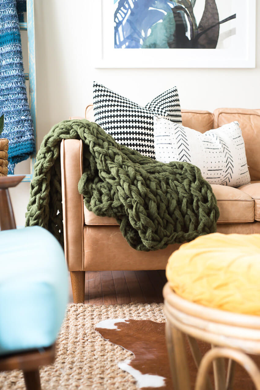 You can find several ways to make your home beautiful with these arm-knit beauties!