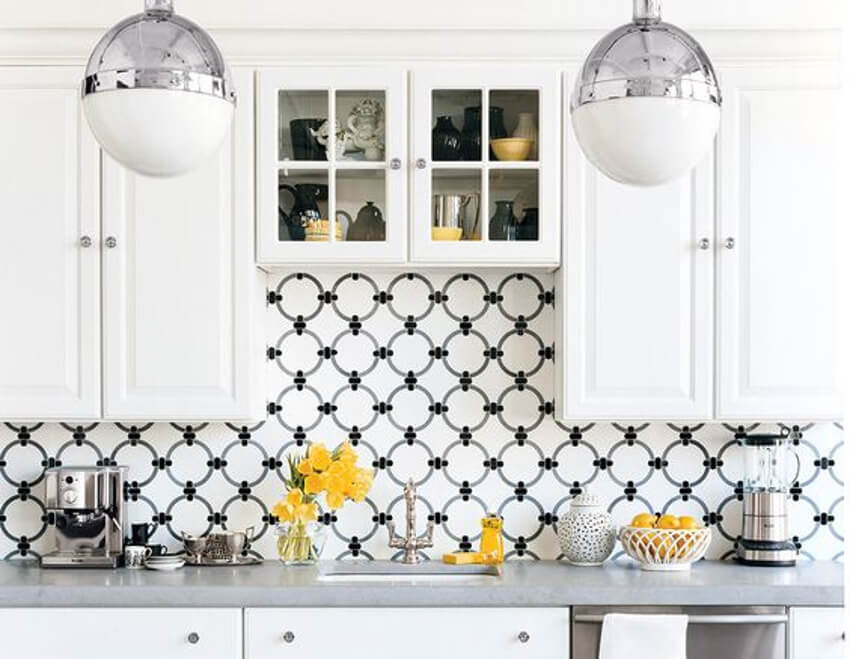 A dotted backsplash will certainly be one of a kind!