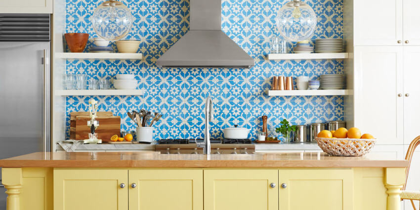 These beautiful blue and white playful shapes will lighten up any mood.