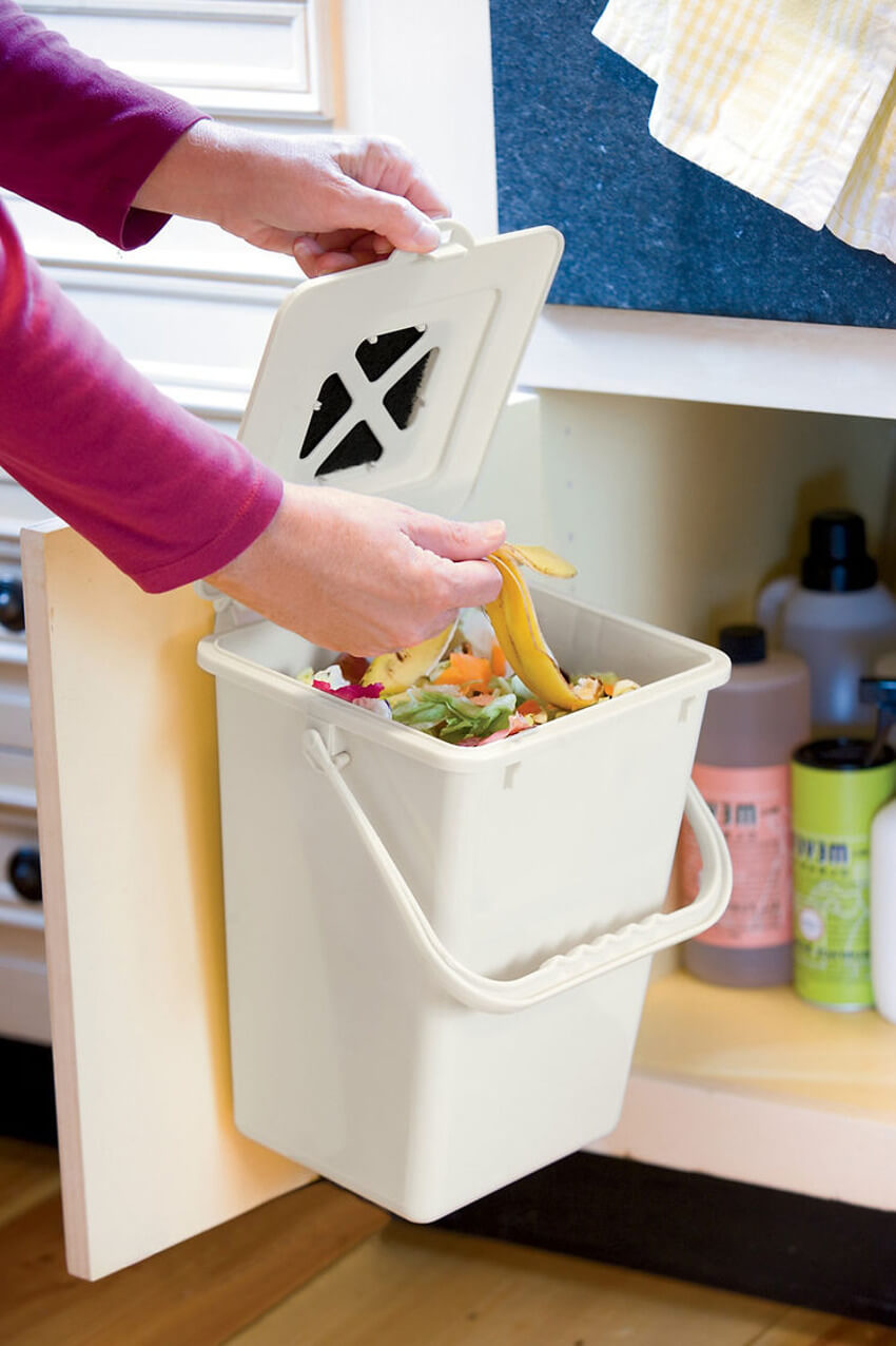 Composting not only reduces waste, but it provides a nutrient-rich food for your plants.
