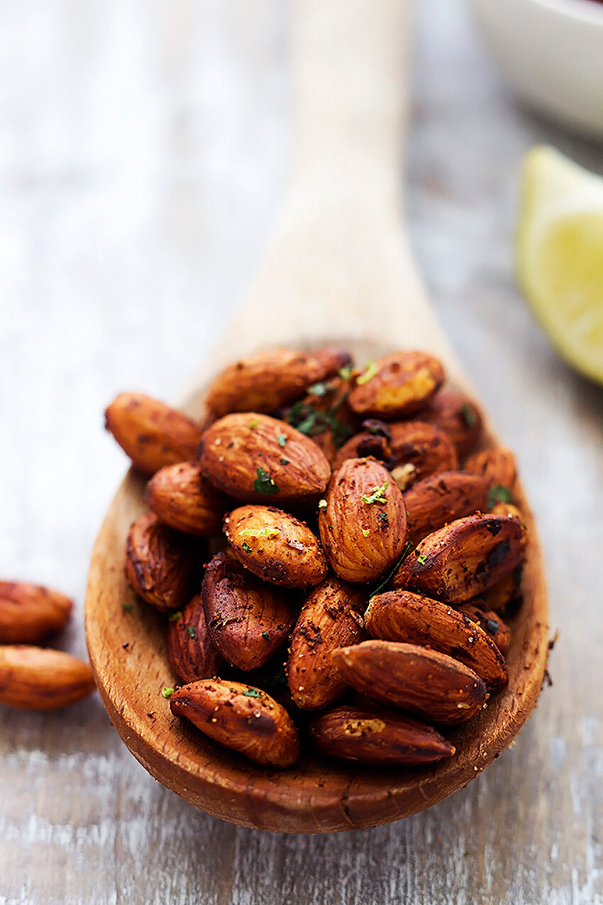 An amazing recipe for Chili Lime Almonds.