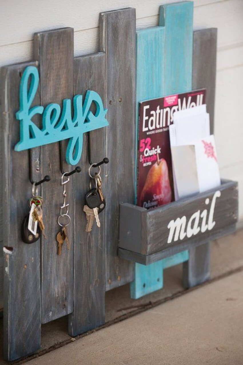 Put a mail holder in your entryway or behind the front door to make mail storage easy.