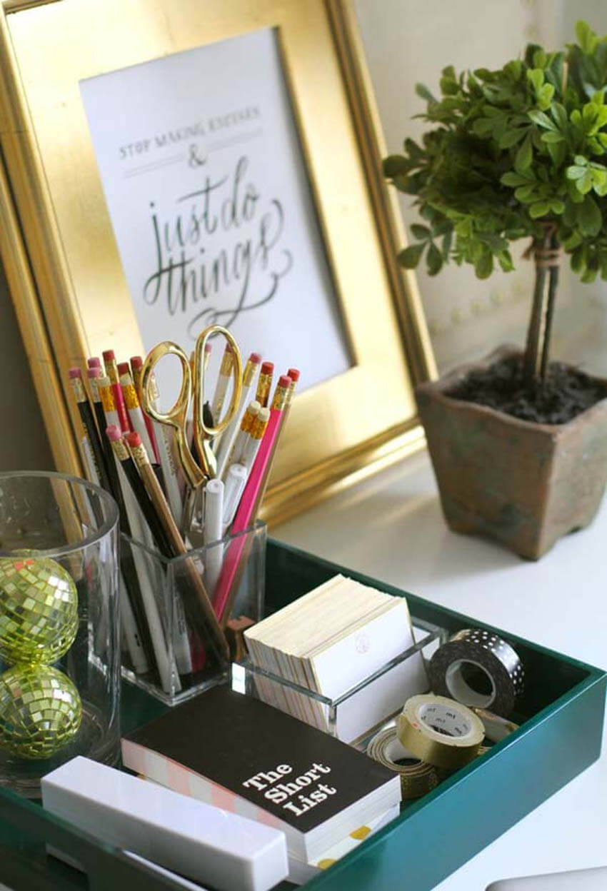 Organize in a way that all your supplies are close at hand.