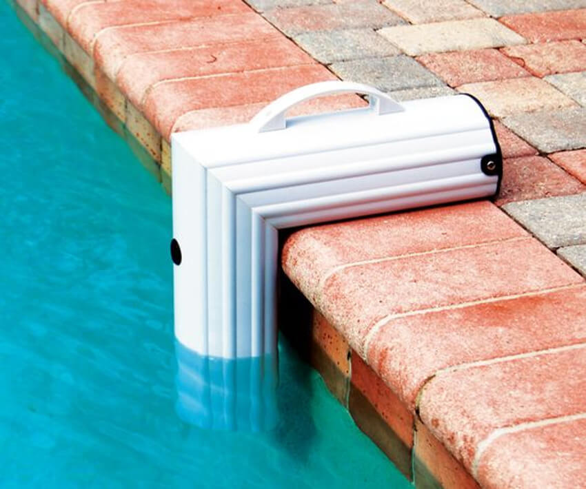 This pool alarm will indicate whenever someone or something gets near the edge of the pool