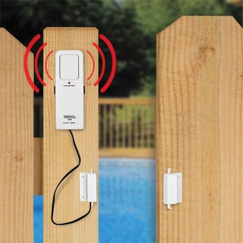 This gate pool alarm will help notice when someone gets into that area.