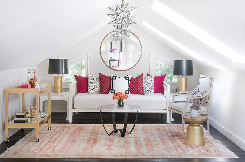 Mirrors are a wonderful way to create the sensation that a room is much bigger than it is.