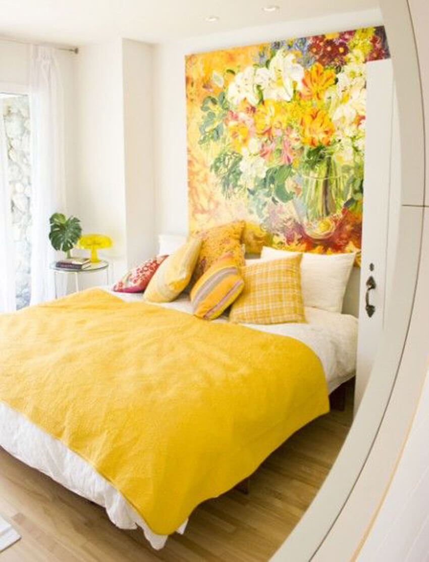 Using light colors on the walls can help open up a room and make it feel bigger.