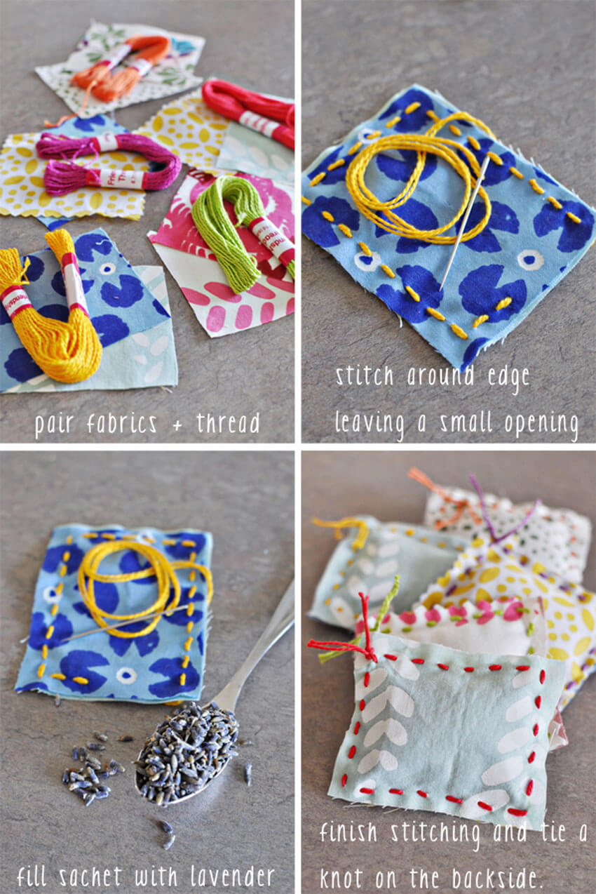 Making your own DIY sachet is a great way to keep your home smelling clean and wonderful!