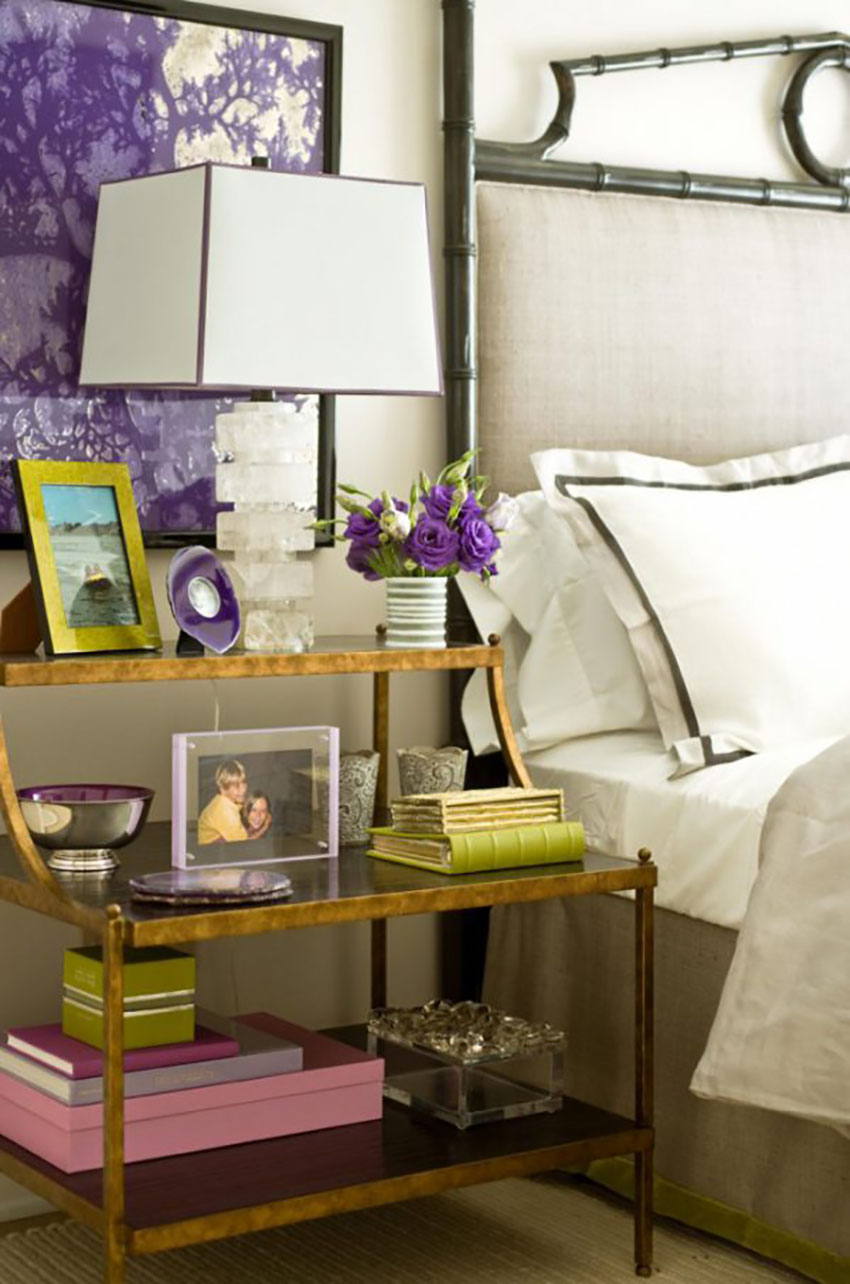 Combining Patone's greenery with a royal purple creates incredible contrast and adds style to any room.