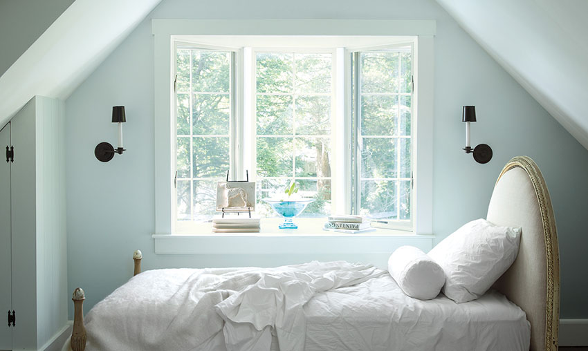 Painting your rooms a bright white can make them seem bigger.