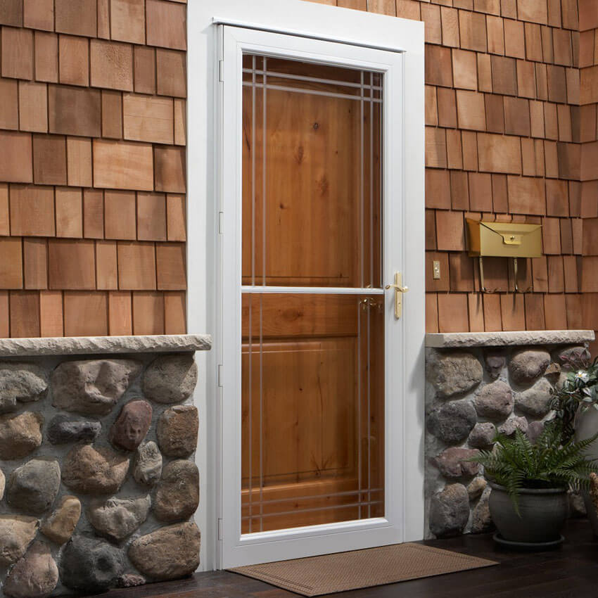 Make sure your doors work properly and consider getting storm doors.