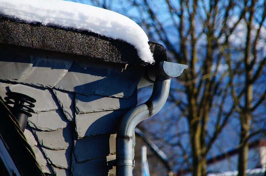 Make sure your gutters are cleaned out before snow starts falling.