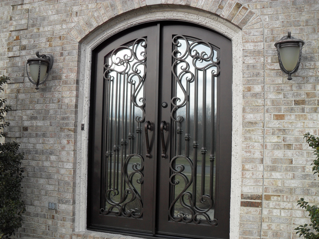 Steel entry doors offer security and dependability.