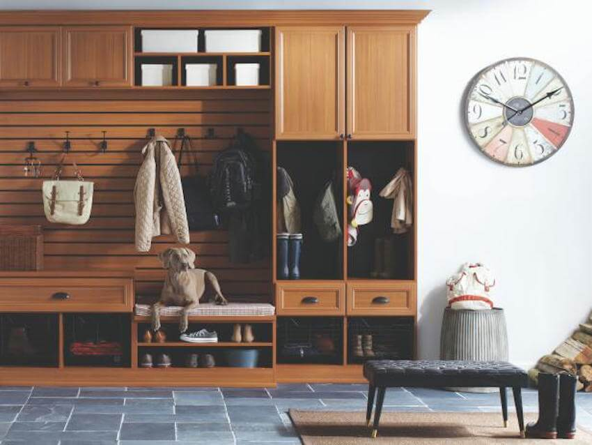 A mudroom is the perfect interior addition for a house with children