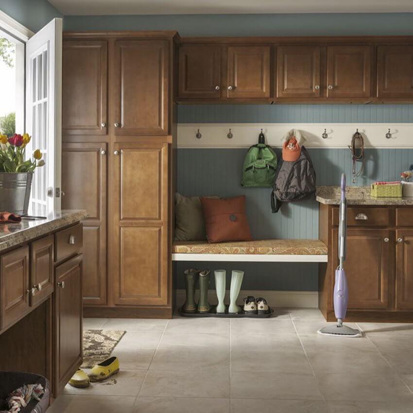 Add custom cabinets for optimal organization